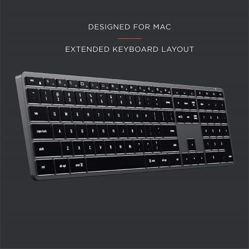 スリム X3 テンキー付き Bluetooth バックライトキーボード-1