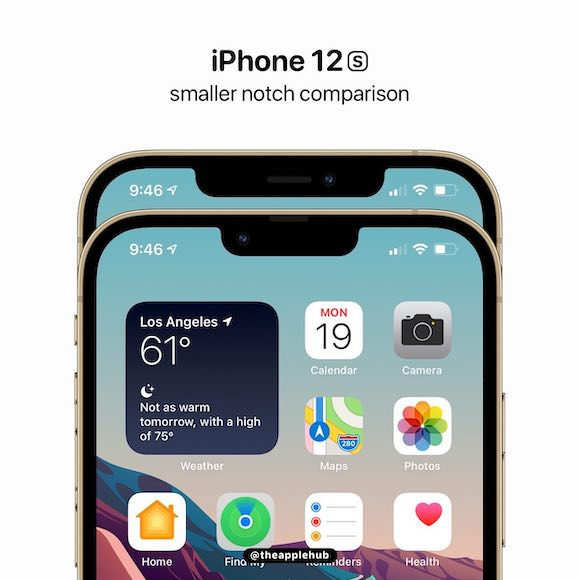 iPhone13 notch AH