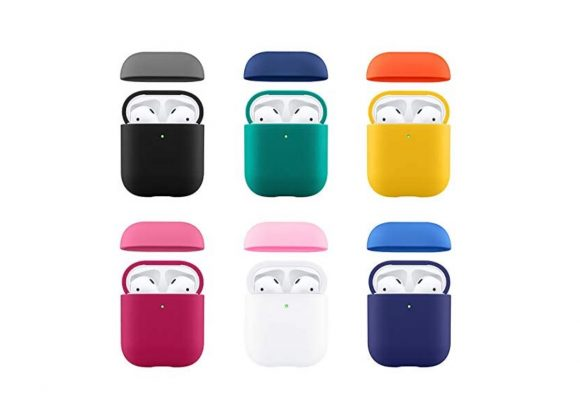 Power Support Silicone Dual Cap Case for AirPods-カラー