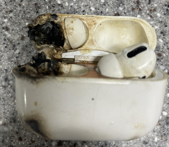 AirPods Pro exploded