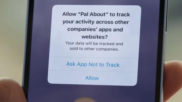 アプリのトラッキングの透明性