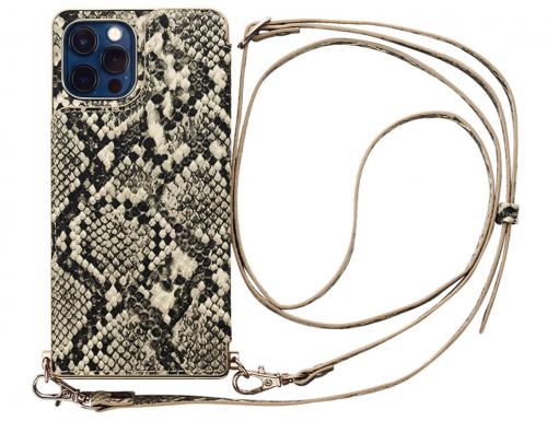 【iPhone12:12 Pro ケース】Cross Body Case Animal Series for iPhone12:12 Pro (python)