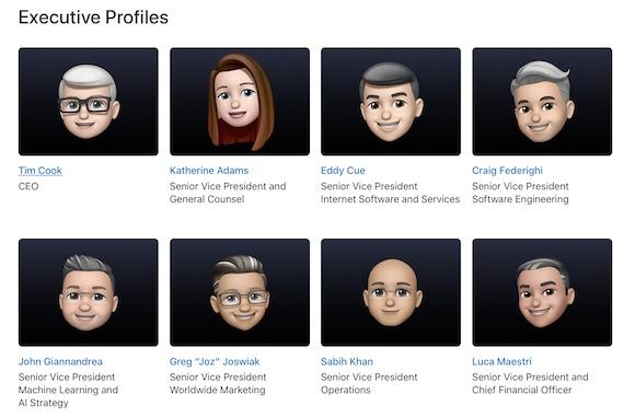 Appleの役員について