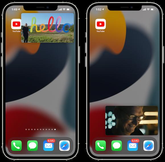 YouTube PiP AppleEvent iOS15