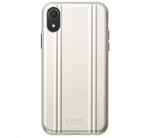 【iPhoneXR ケース】ZERO HALLIBURTON Hybrid Shockproof case for iPhoneXR (Silver)