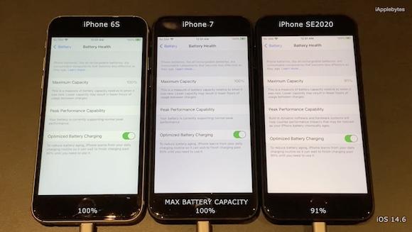 iOS15ベータ1 バッテリーテスト