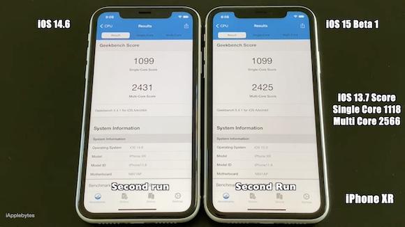 iOS15 ベータ1 スピードテスト