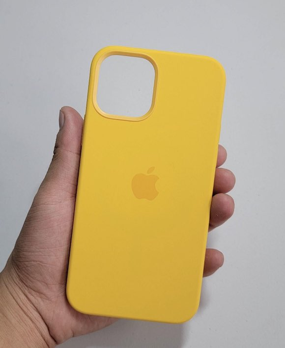 iPhone12 silicon case yellow