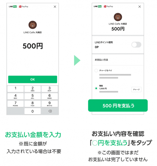 PayPay加盟店でLINE Payを利用する方法-2
