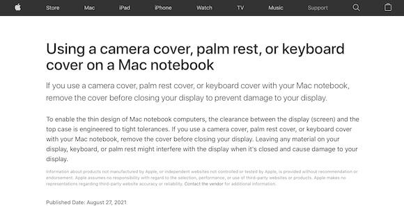 Apple サポート キーボードカバー、パームレスト
