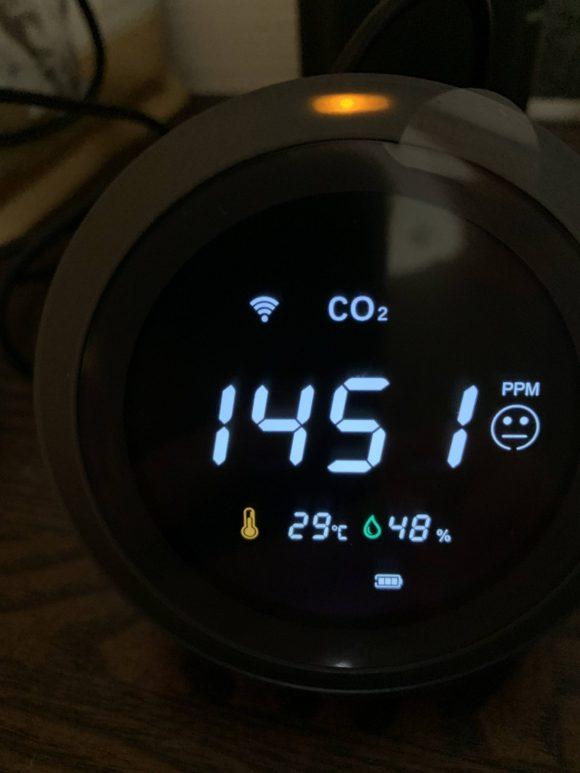 sparoma PTH-8で測定した仕事部屋のCO2濃度