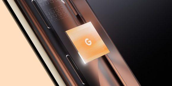 GoogleのTensorチップの画像