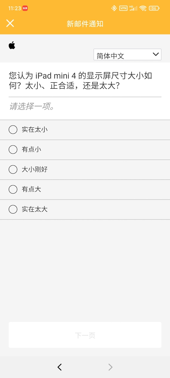 iPad mini 4 survey