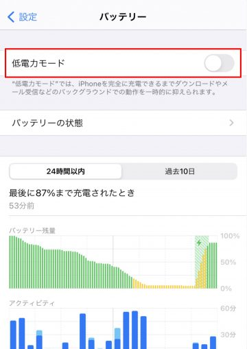 Tips iOS14 バッテリー