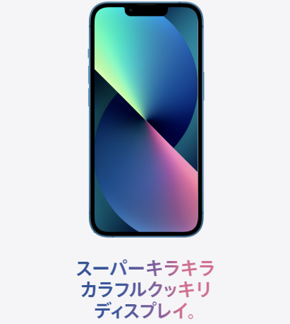 iPhone13 スーパーキラキラカラフルクッキリディスプレイ1