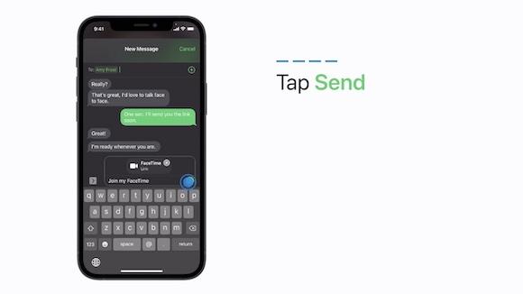 iOS15 FaceTimeでリンクを送信する方法 Windows Android対応