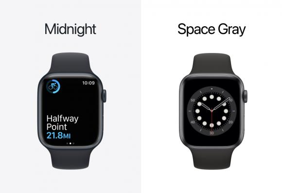 Apple Watch ミッドナイトとスペースグレイ