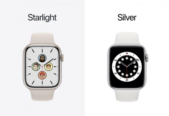 Apple watch スターライトとシルバー