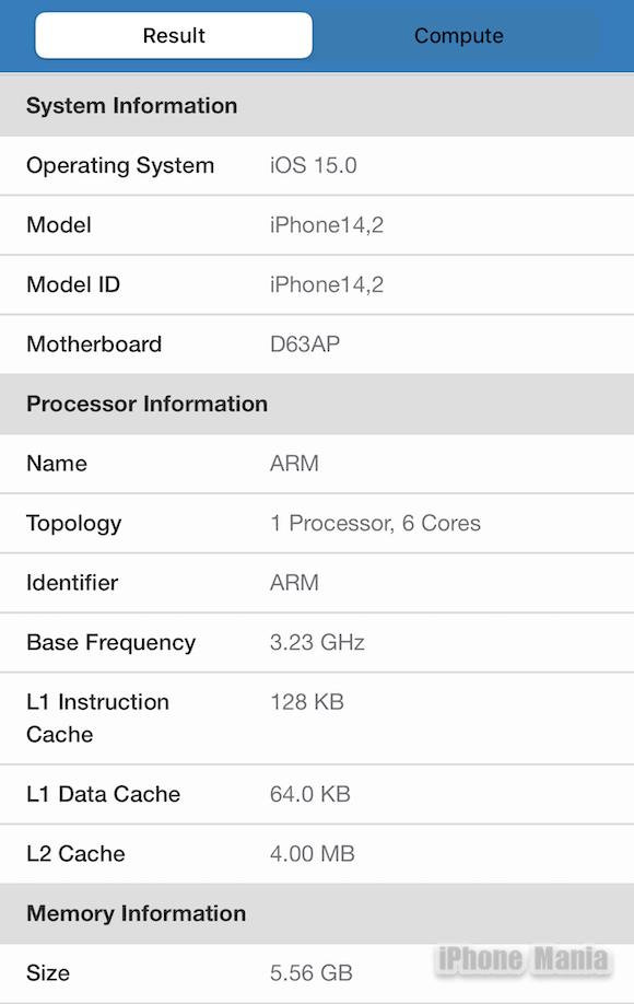 Geekbench 5 iPhone13 Pro_5