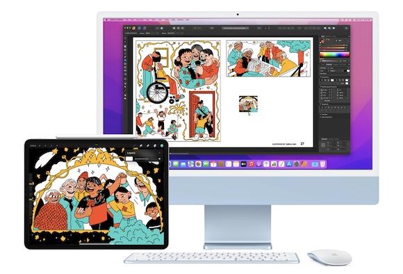 Apple macOS Monterey ユニバーサルコントロール