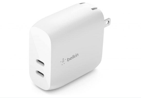 USB充電器 デュアルUSB-C PD 20W x 2 BOOST↑CHARGE