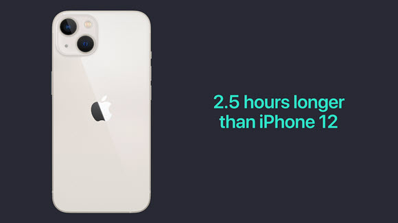 iPhone13 バッテリー AppleEvent