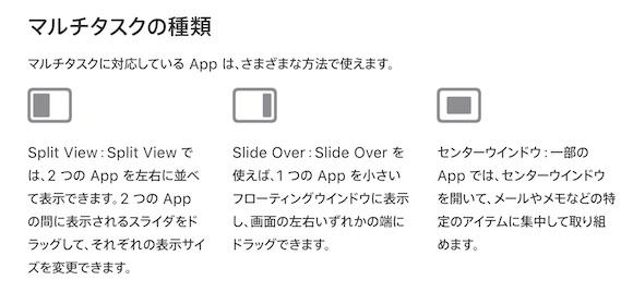 iPadOS15 マルチタスク Appleサポート