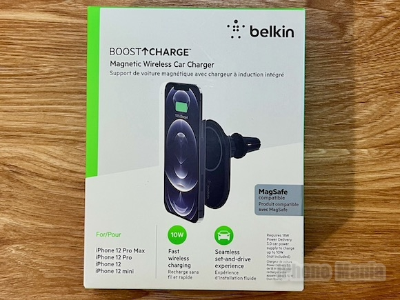 Belkin ベルキン「BOOST↑CHARGE 磁気ワイヤレス車載充電器10W」レビュー