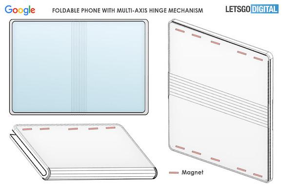 Google foldable patent