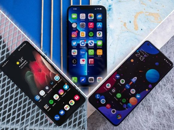 iPhone13 ProとSamsung、OnePlusのスマホ