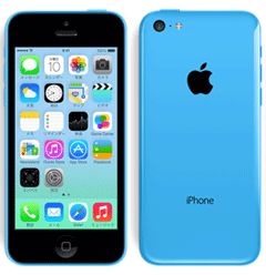 iPhone5Cブルー