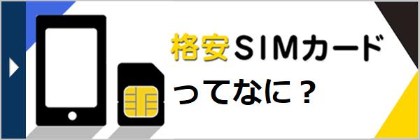 格安SIMカード ってなに?